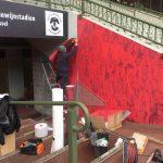 Rode Duivels asfaltsticker - Koning Boudewijnstadion