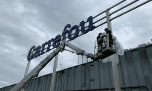 Carrefour XXL lichtreclame