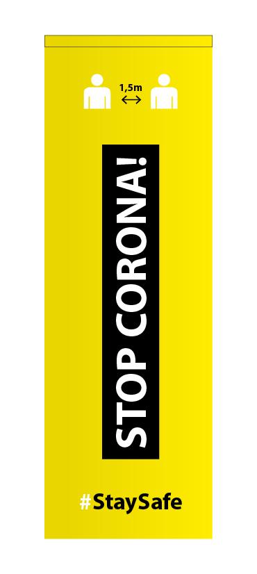 Corona publiciteitsvlag